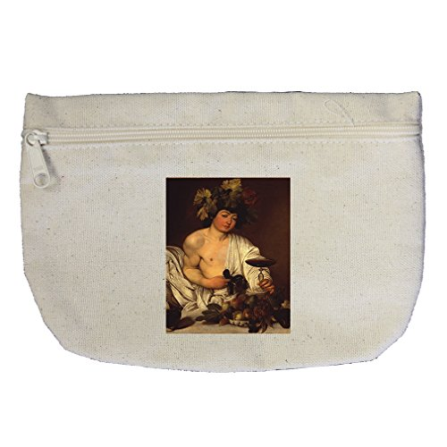 The Adolescent Bacchus (Caravaggio) Canvas Makeup Bag Zippered - Canvas Bacchus