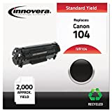 Innovera IVR104 Laser Cartridge - 104 Compatible, Remanufactured, 0263B001AA (104) Toner, 2000 Yield, Black