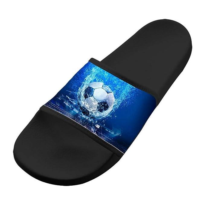 e12b2f5a1 Soccer in Motion Bedroom Sandals Unisex Custom Slippers Bath Summer Flip  Flops 6 B(M