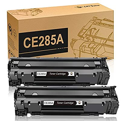 CE285A 85A Black Laserjet Toner Cartridge CMYBabee 2 Pack Replacement Toner Compatible for Canon 125 and HP Laserjet Pro M1132 M1210 M1212NF M1217NFW P1102 P1102W Printer
