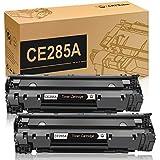 CE285A 85A Black Laserjet Toner Cartridge CMYBabee 2 Pack Replacement Toner Compatible for Canon 125 and HP Laserjet Pro M1132 M1210 M1212NF M1217NFW P1102 P1102W Printer