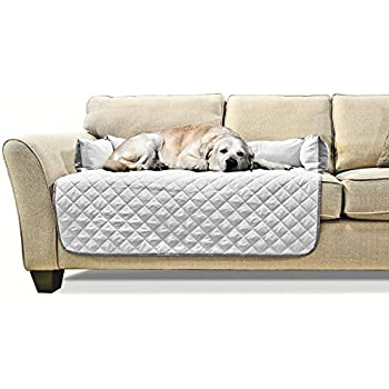 Furhaven Pet Sofa Buddy Pet Bed Furniture Cover, Large, Gray/Mist