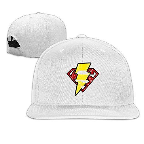 Bad Superman Costume (LINNA Custom Unisex-Adult Super Lightning Logo Mixed Flat Billed Summer Visor Cap White)