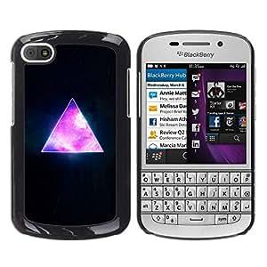 Smartphone Rígido Protección única Imagen Carcasa Funda Tapa Skin Case Para BlackBerry Q10 Pyramid Space Cosmos Galaxy Universe Triangle / STRONG