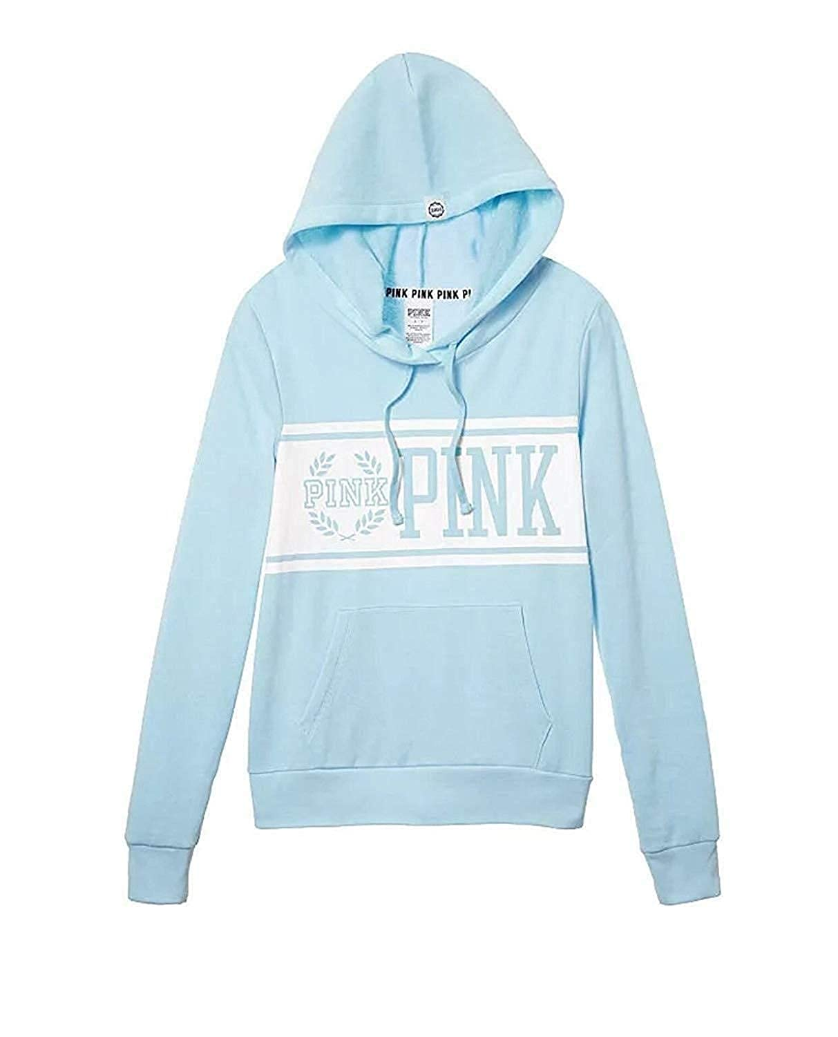 Victorias Secret Perfect Hoodie Fleece Pullover Color Blue Size X-Small New