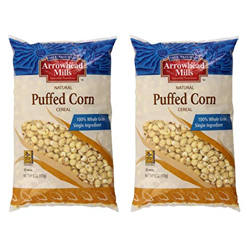 Arrowhead Mills Cereal, Puffed Corn, 6 Ounce (Pack of 2)