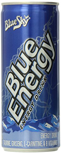 Blue Sky Blue Energy Natural Energy Drink, 8.3 Ounce (Pack of 12)