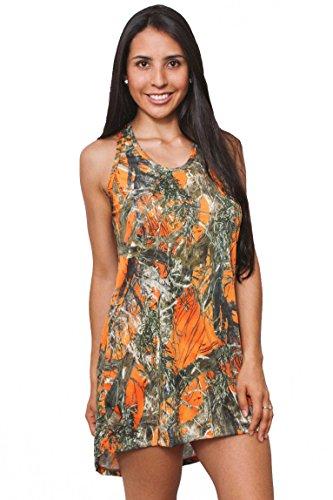 Women's Camo Tank Dress Authentic True Timber: ORANGE (Medium) (Camo Orange Bikini)