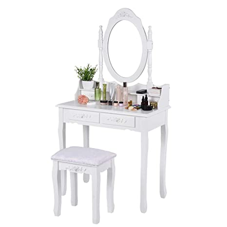 Amazon.com: Vanity Set, Fulijie Makeup Dressing Table with ...