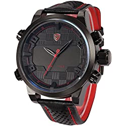 NEW U.S.A SHARK Luxury LED Date Military Army Quartz Leather Mens Sport Watch