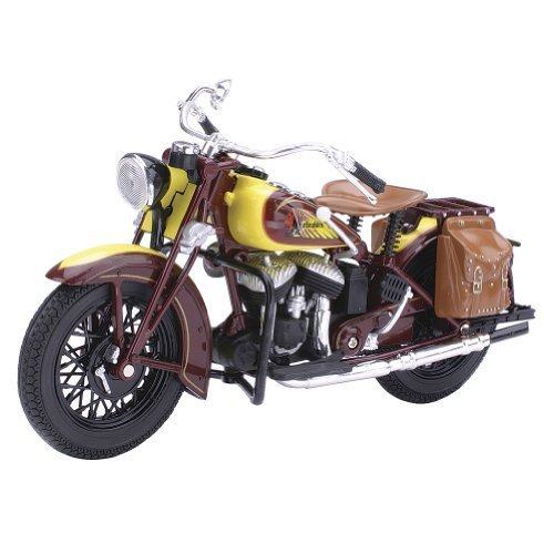 Indian Scout Motorcycle (Indian 1934 Sport Scout Motorcycle Die Cast Scale Model by)