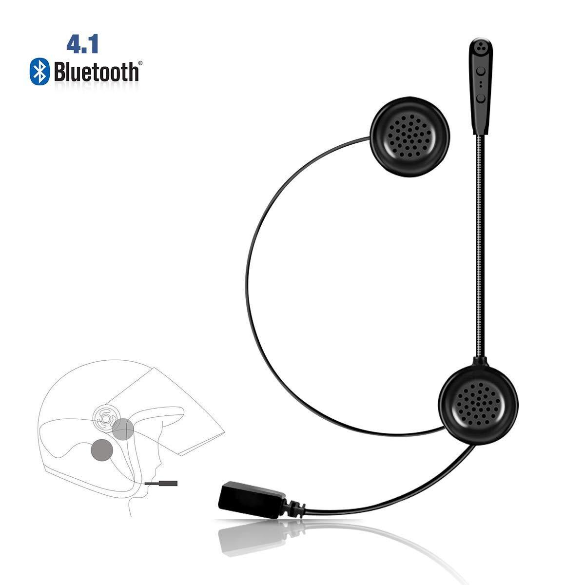 Ejeas E1 Auriculares Motocicleta Cascos Bluetooth 4.1 Inalámbricos ...