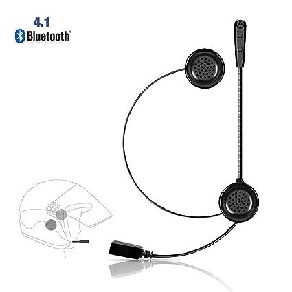 Lemnoi E1 Auriculares Motocicleta Cascos Bluetooth 4.1, Bluetooth Manos Libres Moto Casco Auricular Altavoces música