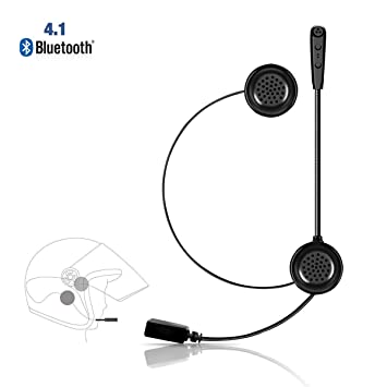 722fdab4e99 Lemnoi E1 Auriculares Motocicleta Cascos Bluetooth 4.1, Bluetooth Manos  Libres Moto Casco Auricular Altavoces música Mic Control de Llamadas:  Amazon.es: ...