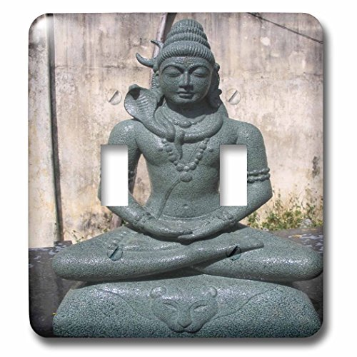 3dRose LSP 80275_ 2hindú Estatua Shiva doble interruptor de palanca