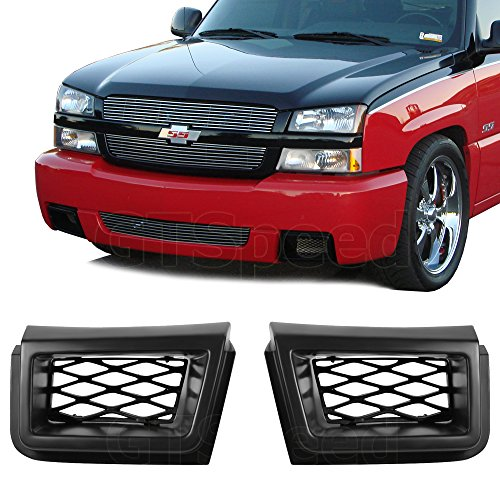 GT-Speed made for 03-07 Chevy Silverado 1500 SS Style Front PU Bumper Caliper Air Duct PAIR