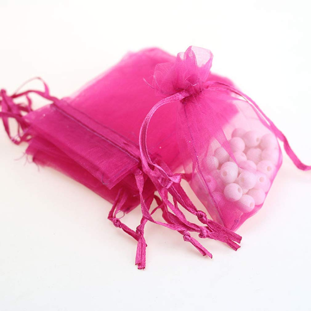 Amazon.com: 3x4 White Organza Wedding Party Favor Bags- Package of ...