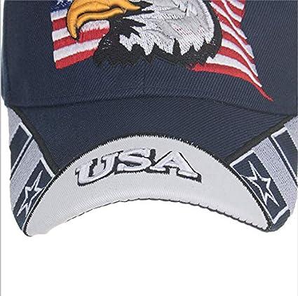 qqyz Adulto Gorra De Béisbol Bordado Águila Americana Sombrero De ...