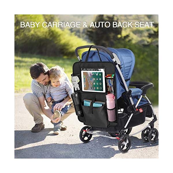 51B ort ISL Auto Rückenlehnenschutz, opamoo 2 Stück Auto Rücksitz Organizer für Kinder, Große Taschen und iPad-/Tablet-Fach…