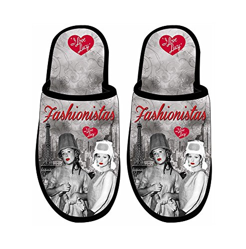 I Love Lucy Slippers Fashionistas - One Size Fits Most 4DJakidu4r