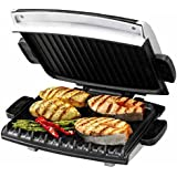 George Foreman 6-Serving Removable Plate Grill and Panini Press, Silver, GRP99