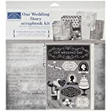 Karen Foster Design Themed Paper and Stickers Scrapbook Kit, Our Wedding Story