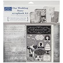 "Karen Foster Our Wedding Story Scrapbook Page Kit 12""x12"","