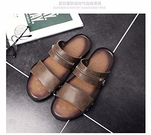 Il nuovo estate Uomini sandali Uomini scarpa tendenza Antiscivolo personalità infradito sandali Spiaggia scarpa ,Cachi,US=6.5,UK=6,EU=39 1/3,CN=39