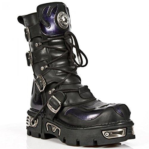 New Rock Støvler M.107-s4 Gotisk Hardrock Punk Unisex Stiefel Sort cyGoauX