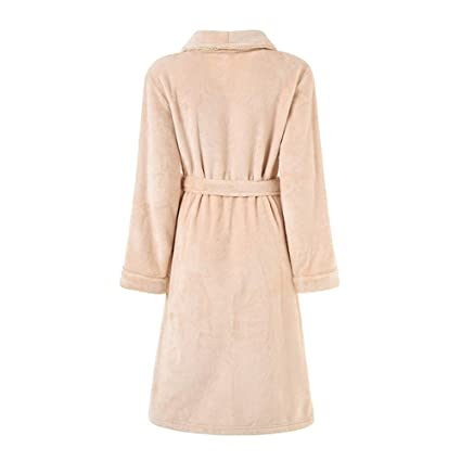 Batas de Lana para Mujer Bata de Felpa Suave Suave para Mujer Bata de baño Pijama cálido Batas de Felpa de Las Mujeres (Color : Rosado, tamaño : XL): ...