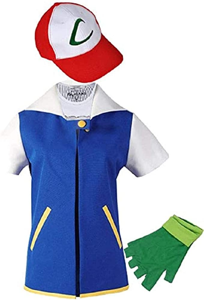 THYLL Cos Halloween Costume Adult Kids Hoodie Cosplay Jacket Gloves Hat Sets for Trainer
