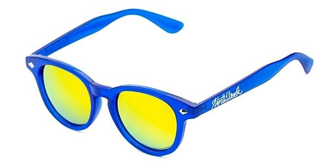 Gafas de sol Northweek - Circle Bright Blue & Gold Polarized ...
