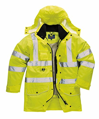 (Portwest Workwear Mens Hi-Vis 7-in-1 Jacket Yellow XL)