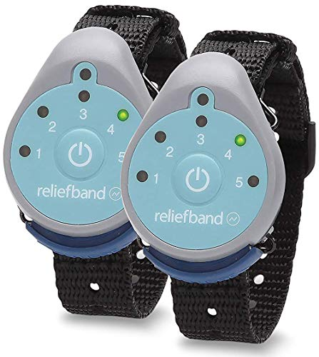 Reliefband 1.5 Motion Sickness Wristband - 2 Pack - Easy-to-Use, Fast, Drug-Free Nausea Relief Band Helps with Morning Sickness, Nausea, Sea Sickness, Vomiting