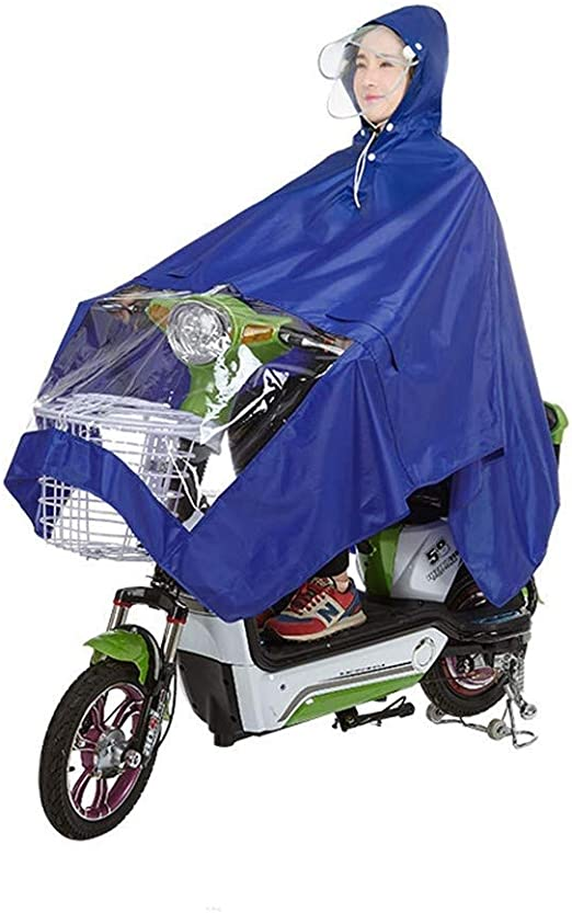 LIOOBO 1Pc Impermeable Oxford Tela Duradero Espesar Impermeable Impermeable Raincape Poncho para Bicicleta El/éctrica Bicicleta Motocicleta