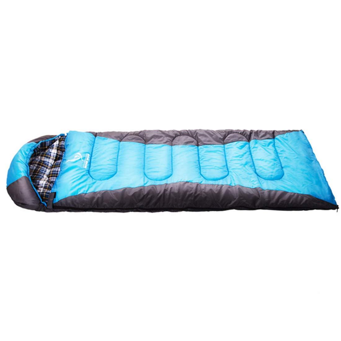 Jakiload Kompressions-Sack mit Baumwoll-Flanell-Schlafsack-Komfort für kaltes Wetter der Erwachsenen (Farbe   schwarz Blau)
