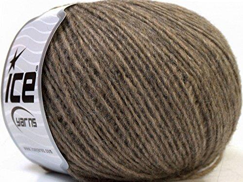 Peru Alpaca Light DK Yarn - Camel Merino Wool Alpaca Acrylic Blend 50 Gram 191 Yards (Yarn Alpaca Peru Wool)