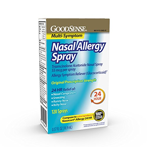Good Sense Nasal Allergy Spray for Allergy Relief, Contains Triamcinolone Acetonide (Glucocorticoid)