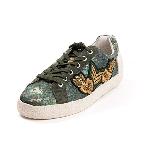 ASH Womens Grey Sneakers Green Military Nakarms 6r5Twq6