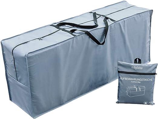 Chefarone Bolsa impermeable para cojines de jardín - Protege cojines sofas - cojines para sillas y muebles de