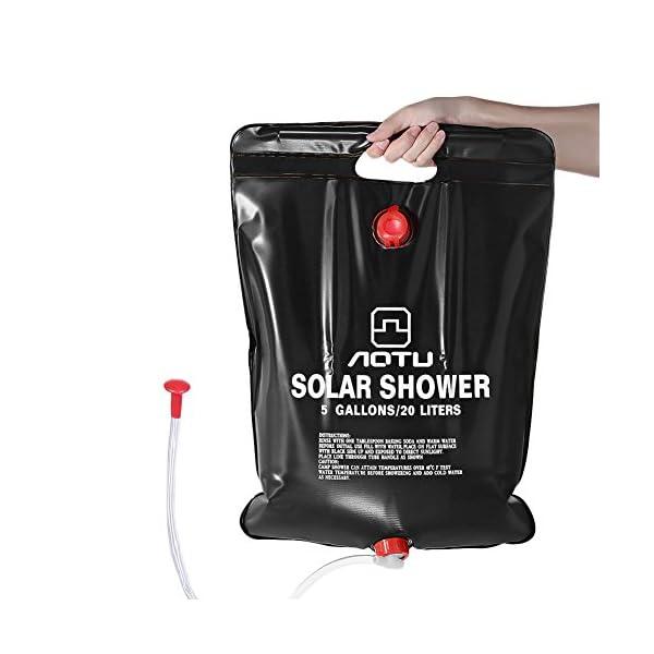 RUNACC Solar Dusche Solar Heizung Camping Dusche Bag Outdoor Dusche Tasche für Camping, Wandern und Klettern, Schwarz