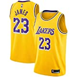 Majestic Athletic Yellow Men's #23 Lebron James Los Angeles Lakers Swingman Jersey