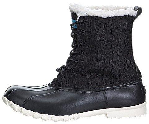 Native Shoes Unisex Jimmy Winter Jiffy Black/Bone White 6 Women / 4 Men M US (Jimmy Boots Native Shoes)