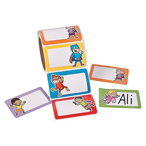 Fun Express Superhero Name Tags (100 Pieces) School Supplies/Stationary/Functions by FX]()