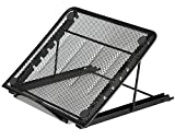 Halter Mesh Ventilated Adjustable Laptop Stand for Laptop / Notebook / iPad / Tablet and more - Black