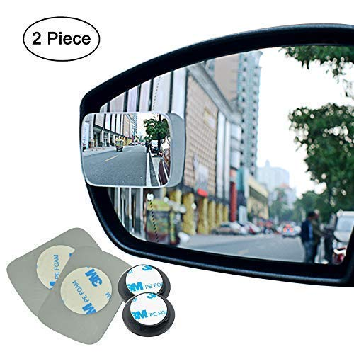 Ampper Blind Spot mirror, Square HD Glass Convex Rear View Mirror, Strengthened Adhesive and Upgrade Stick Area, Pack of 2 (Upgraded) (Honda Civic Driver Side Door Lock Not Working)