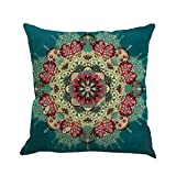 Pgojuni Geometry Painting Linen Cushion Cover Throw Pillow Cover Cushion Cover Pillow Case for Sofa/Car/Bed 1pc (E)