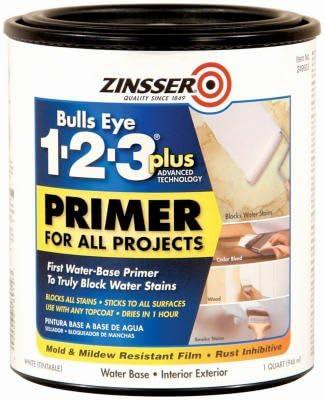Amazon Com Zinsser Bulls Eye 123 Plus Primer 1 Qt Home Kitchen