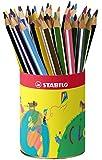STABILO Trio - Godet de 38 crayons de couleur triangulaires - 12 couleurs assorties