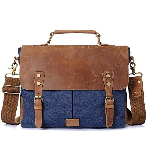 Satchel Man Computer Canvas Retro Men's Penao Handbag Blue Bag 5fHxzH0q
